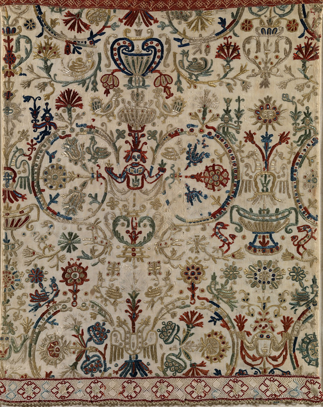 bedspread-fragment-crete-greece-18th-century-silk-on-linen